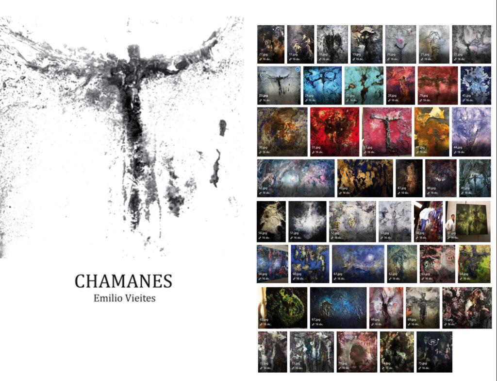 Libro Chamanes. Emilio Vieites. Colección de obras del libro chamanes.